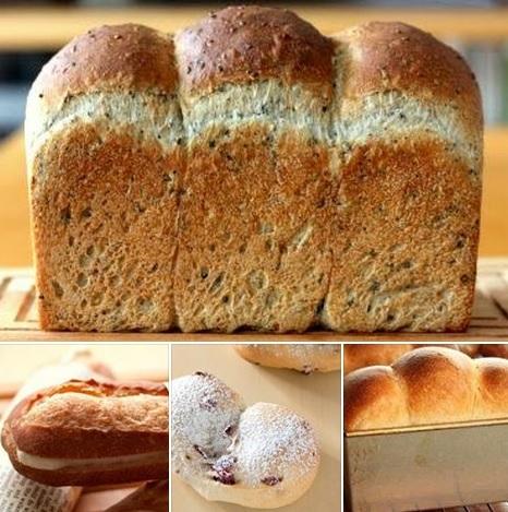 ミルクソフトフランス.黒胡麻食パン.クランベリーヨーグルト