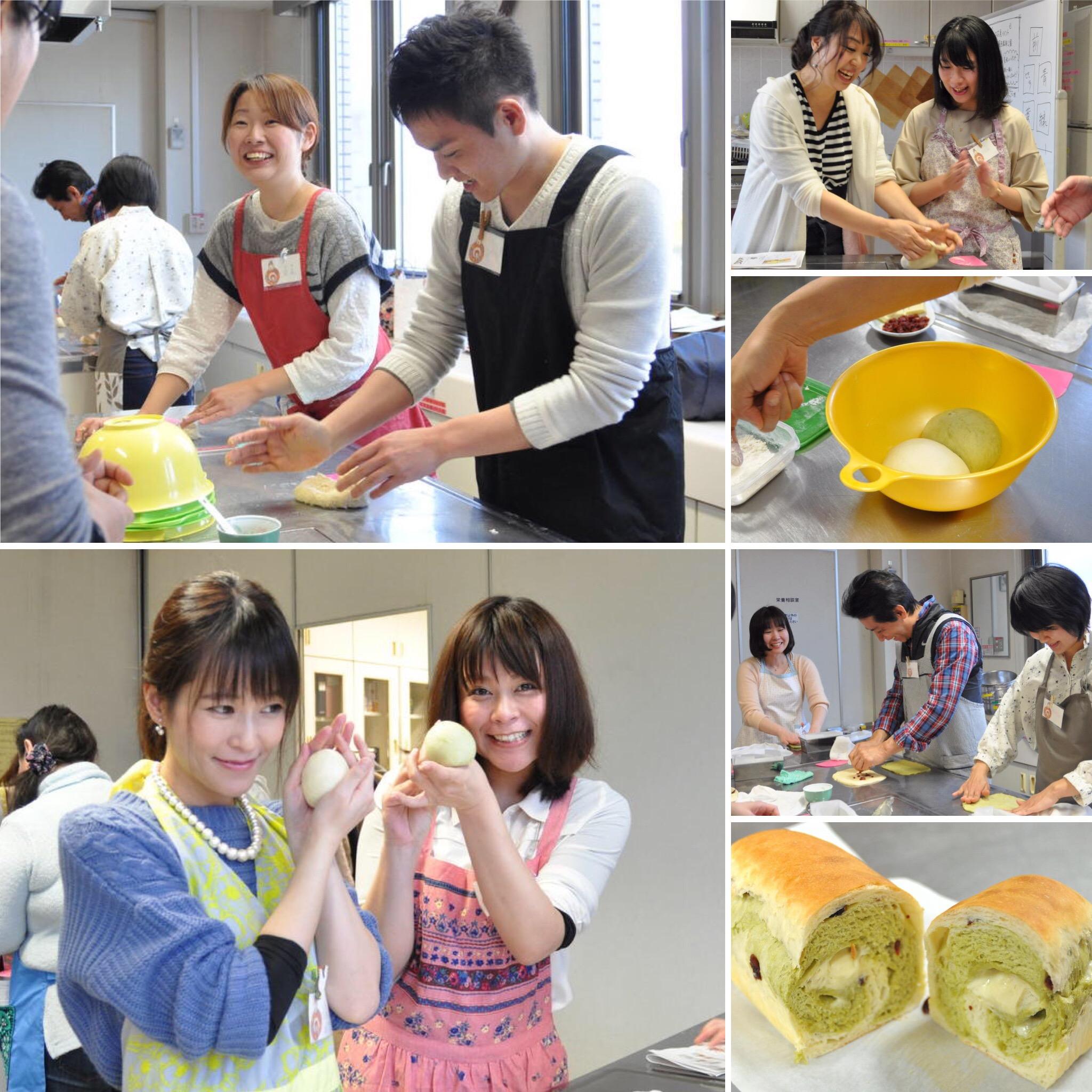 抹茶のマーブルロール..パン.手作りパン.パン教室.オフ会